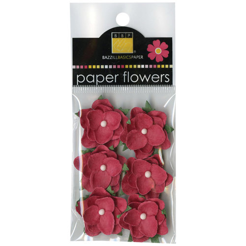 Bazzill - Janet Hopkins - Wayfarer Collection - Paper Flowers - Lava