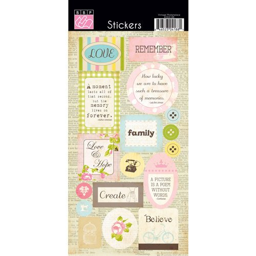 Bazzill - Margie Romney-Aslett - Vintage Marketplace Collection - Cardstock Stickers