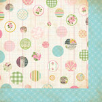 Bazzill - Margie Romney-Aslett - Vintage Marketplace Collection - 12 x 12 Double Sided Paper - Market Dots