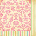 Bazzill Basics - Margie Romney-Aslett - Vintage Marketplace Collection - 12 x 12 Double Sided Paper - Feather Brocade