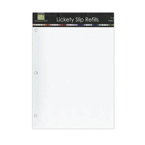 Bazzill - Lickety Slip - 9 x 12 D-Ring Album Refills - 9 x 12 Layouts