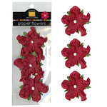 Bazzill - Paper Flowers - 2 Inch Twisted Flower - Ruby Slipper