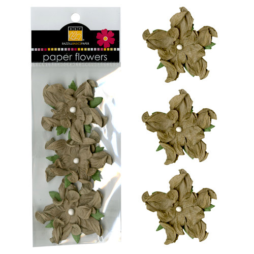Bazzill Basics - Paper Flowers - 2 Inch Twisted Flower - Kraft