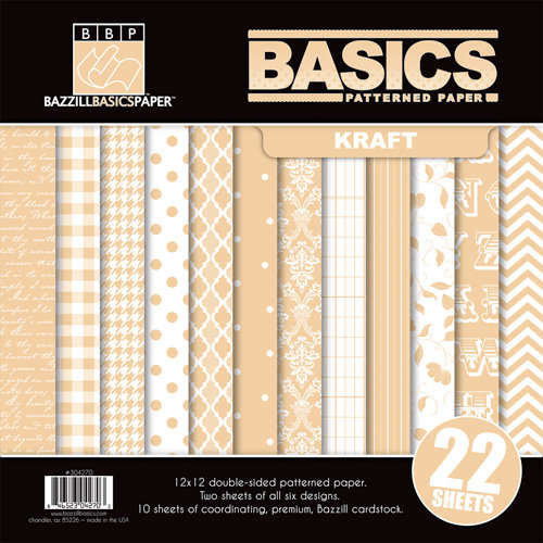 Bazzill Basics - Basics Collection - 12 x 12 Assortment Pack - Kraft