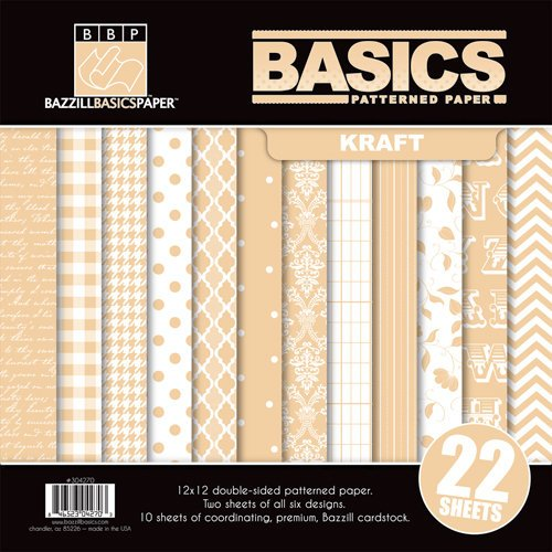 Bazzill - Basics Collection - 12 x 12 Assortment Pack - Kraft