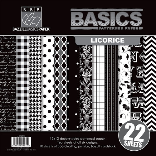 Bazzill - Basics Collection - 12 x 12 Assortment Pack - Licorice