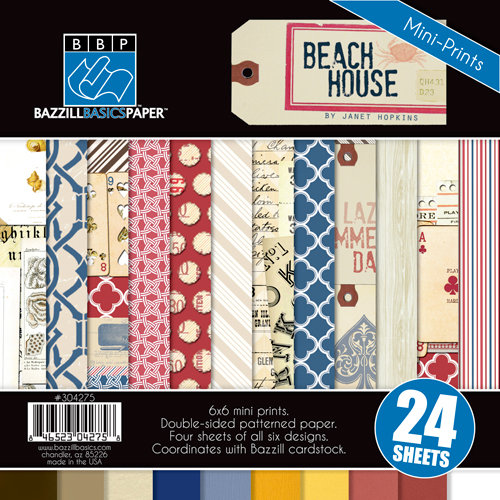 Bazzill - Beach House Collection - 6 x 6 Assortment Pack