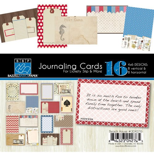 Bazzill - Beach House Collection - Lickety Slip - 4 x 6 Journaling Cards