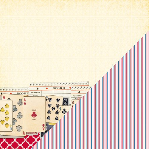 Bazzill Basics - Beach House Collection - 12 x 12 Double Sided Paper - Score Card
