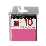Bazzill - Cards and Envelopes - 10 Pack - 3 x 3 Scallop - Pink Fairy