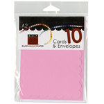 Bazzill - Cards and Envelopes - 10 Pack - A2 Scallop - Guava Sensation
