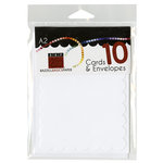 Bazzill - Cards and Envelopes - 10 Pack - A2 Scallop - Coconut Swirl