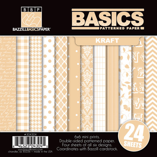 Bazzill - Basics Collection - 6 x 6 Assortment Pack - Kraft