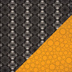 Bazzill Basics - All Hallows Eve Collection - Halloween - 12 x 12 Double Sided Paper - Spider Damask