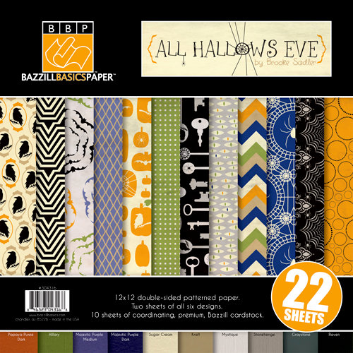 Bazzill - All Hallows Eve Collection - Halloween - 12 x 12 Assortment Pack