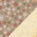 Bazzill - Margie Romney-Aslett - Believe Collection - Christmas - 12 x 12 Double Sided Paper - Blizzard