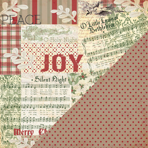 Bazzill - Margie Romney-Aslett - Believe Collection - Christmas - 12 x 12 Double Sided Paper - Believe
