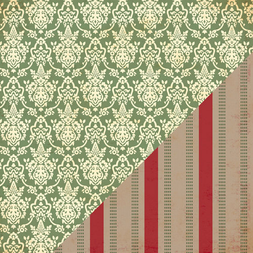 Bazzill Basics - Margie Romney-Aslett - Believe Collection - Christmas - 12 x 12 Double Sided Paper - Christmas Dress