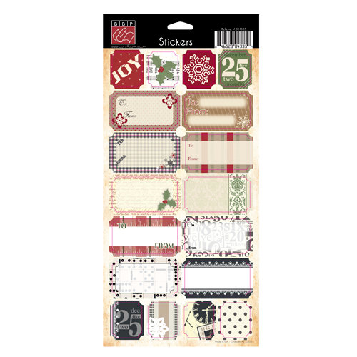 Bazzill Basics - Margie Romney-Aslett - Believe Collection - Christmas - Cardstock Stickers - To From