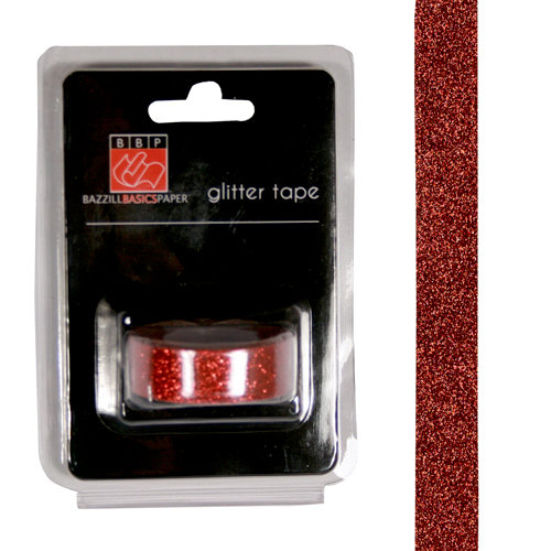 Bazzill Basics - Glitter Tape - Red