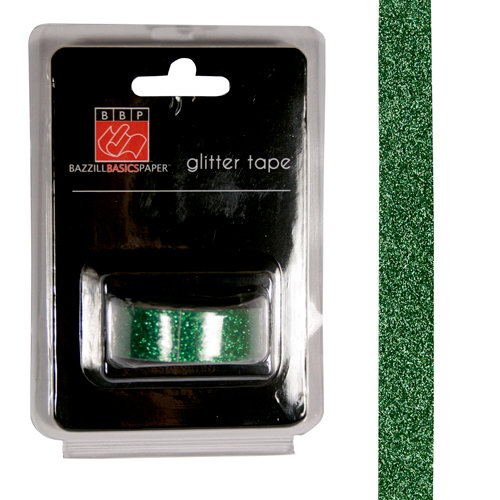 Bazzill Basics - Glitter Tape - Green
