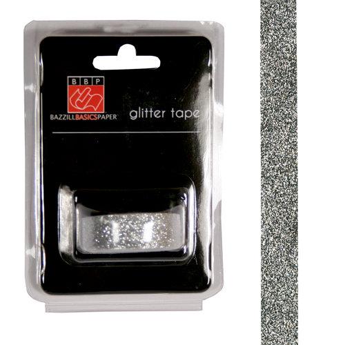 Bazzill Basics - Glitter Tape - Silver