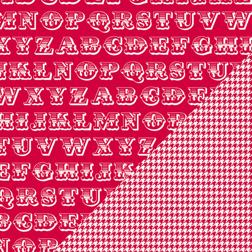 Bazzill - Basics Collection - 12 x 12 Double Sided Paper - Red Devil - Alphabet Soup