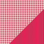 Bazzill - Basics Collection - 12 x 12 Double Sided Paper - Red Devil - Picnic Plaid