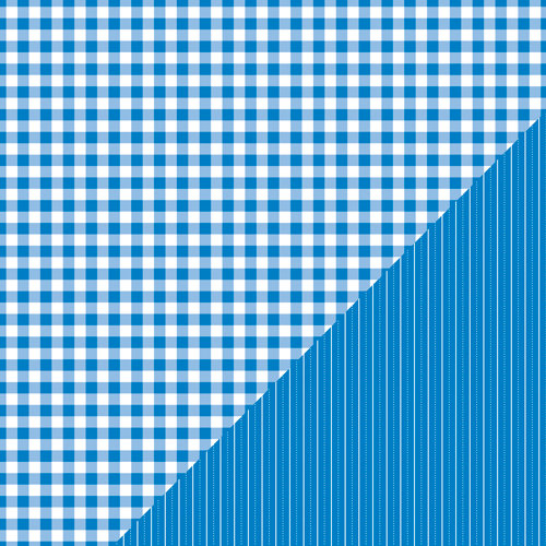 Bazzill - Basics Collection - 12 x 12 Double Sided Paper - Huckleberry Pie - Picnic Plaid