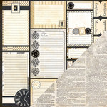 Bazzill - Heritage Collection - 12 x 12 Double Sided Paper - Tabs and Notes