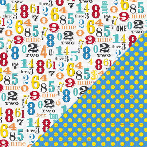 Bazzill Basics - School Days Collection - 12 x 12 Double Sided Paper - Numbers