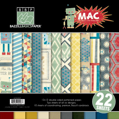 Bazzill - Mac Collection - 12 x 12 Assortment Pack