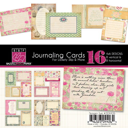 Bazzill Basics - Miss Teagen Sue Collection - Lickety Slip - 4 x 6 Journaling Cards