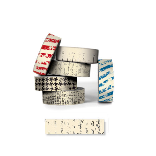 Bazzill - Antique Paper Tape - Script