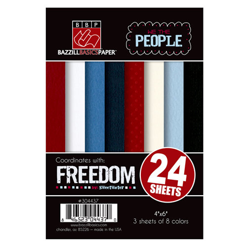 Bazzill Basics - Freedom Collection - 4 x 6 Cardstock Pack
