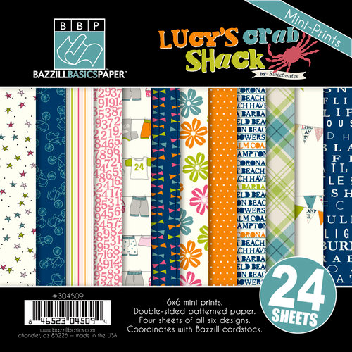 Bazzill - Lucy's Crab Shack Collection - 6 x 6 Assortment Pack