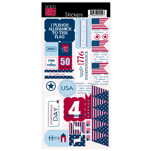 Bazzill Basics - Freedom Collection - Cardstock Stickers