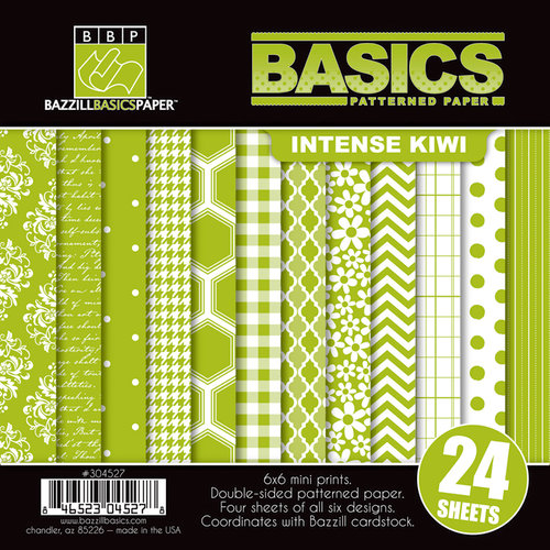 Bazzill - Basics Collection - 6 x 6 Assortment Pack - Intense Kiwi