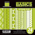 Bazzill Basics - Basics Collection - 6 x 6 Assortment Pack - Intense Kiwi
