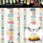 Bazzill Basics - Stitched Banners - Girl