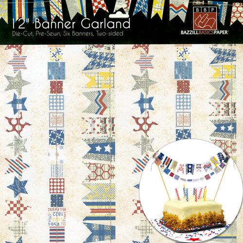 Bazzill Basics - Stitched Banners - Freedom