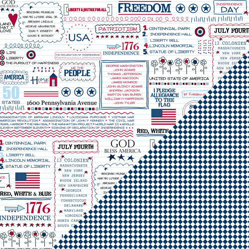 Bazzill Basics - Freedom Collection - 12 x 12 Double Sided Paper - Freedom