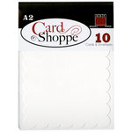 Bazzill - Card Shoppe - Cards and Envelopes - 10 Pack - A2 Scallop - Marshmallow