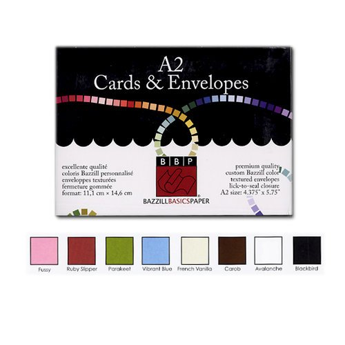 Bazzill Basics - Cards and Envelopes - 45 Pack - A2