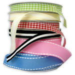 Bazzill Basics - Ribbon Assortment - Striped, CLEARANCE