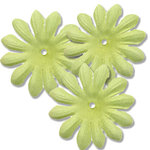 Bazzill Basics - Bitty Blossoms Flowers - Approximately 35 Pieces - Apple Green
