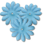 Bazzill Basics - Bitty Blossoms Flowers - Approximately 35 Pieces - Teal OP