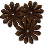Bazzill Basics - Bitty Blossoms Flowers - Approximately 35 Pieces - Brown