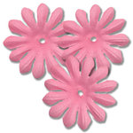 Bazzill Basics - Bitty Blossoms Flowers - Approximately 35 Pieces - Chablis