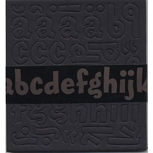 Bazzill Basics - Chipboard Alphabet - Magarita - Black